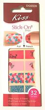 Kiss Nail Stick on NAIL DRESS Strips French or Full 32 Strips Stunner Hearts