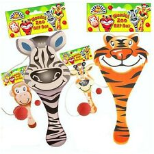 JOB LOT WHOLESALE ~ 24 x WOODEN ZOO ANIMAL BIFF BAT & BALL MONKEY ZEBRA TIGER..