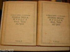 DELLA CORTE A.- PANNAIN G., Storia della musica. vol. primo: il seicento e il s