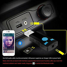 3in1 USB Bluetooth Receiver Adapter 3.5mm AUX Stereo Audio Speaker MP3 Dossy