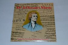 Mr. Jefferson's Music~Colonial Williamsburg Foundation~1977~FAST SHIPPING!!