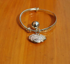 2x Best Charms Silver Plated Baby Kids Bangle Bells Bracelet Jewellery Gift HH