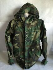 Military Army Woodland Camo BDU Cold Weather Coat Parka Jacket Hooded Medium Reg
