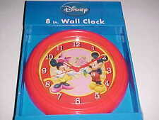 East West Disney Mickey Minnie Mouse Love Red Pink 8 Inch Wall Clock New