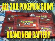 POKEMON RUBY All 386 SHINY GAME UNLOCKED & NEW BATTERY!