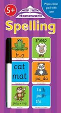 Wipe clean book spelling English writing children pre school Year 1 2 age 5 6 7