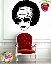 Wall Stickers Vinyl Decal Beautiful African Hippie Woman in Sun Glasses EM297