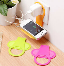 Functional Wall Charger Adapter Hanger Shelf  for Cell Phone Charger Rack Holder