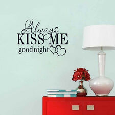Always kiss me goodbye Bedroom Wall Sticker Quotes Decal Words Home Wall Decor