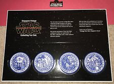Star Wars Celebration Orlando 2017 Patch Set 4 & Case Singapore Vintage Fan Club