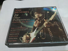 2CD JIMI HENDRIX - 19 GREAT PERFORMANCES (FEAT. JIM MORRISON) - CHARLY 1995 VG+