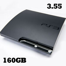 Sony PS3 Playstation 3 Slim 3.55 Firmware 160GB HDD OFW Official Console Rebug
