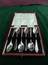 Vintage James Walker ltd EPNS 6 six Teaspoons / Coffee spoons cased silver plate