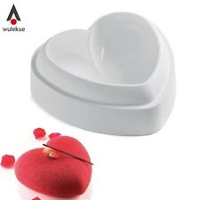 1PCS Non-Stick Silicone Love Heart Shape Cake Mold Amore Baking Pastry Molds Cho