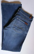 7 For All Mankind Women's Size 29 Button Up Boy Cut Jeans Inseam 30 1/2in