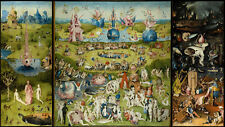 """The Garden Of Earthly Delights HIERONYMUS BOSCH ART poster 24""""x13"""" Decor 02"""