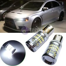 White Reflector 48-SMD LED Bulbs For 08+ Mitsubishi Lancer Evo Daytime DRL Light