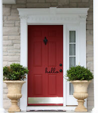 HELLO Front Door Welcome Entrance Wall Art Decal Words Quote Lettering Decor