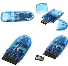 USB 2.0 Memory Card Reader Writer Adaptor for SD MMC SDHC TF Card UP To 64GB CA