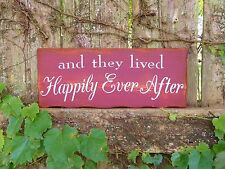 """""""HAPPILY EVER AFTER"""", Love, Valentines, Painted Wood Sign, Home Decor"""