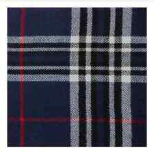 New Winter Warm 100% Cashmere Feel Plaid Wraps Scarves Navy