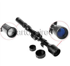 Telescopic Sight 3-7X28 Mounting 20mm Mount Optics Sniper Airsoft Riflescope