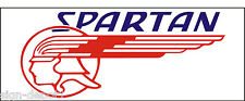 A128 Spartan Airplane banner hangar garage decor Aircraft signs