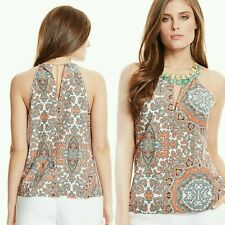 GUESS BY MARCIANO stone embellishments Talitha Tile-Print Tank TOP SIZE S