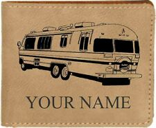 Airstream Mtrhome Leather Billfold With Drawing and Your Name On It-Nice Quality