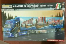 "ITALERI 1/24 Volvo FH16 XL & Viking Reefer Trailer ""Show trucks""- model kit 3867"