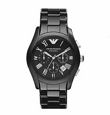 EMPORIO ARMANI CERAMICA AR1400 BLACK CHRONOGRAPH NEW WITH TAG