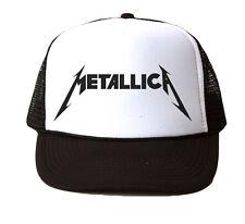 Metallica Custom Trucker Snapback Hat Cap New - White/Black