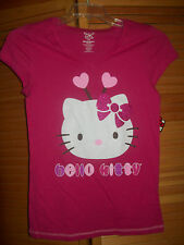 "Hello Kitty short sleeve large girls night shirt pink chest 30"" All Seasons NWT"