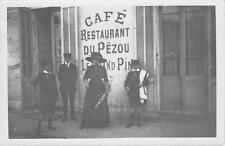 CPA 06 LE CANNET CARTE PHOTO DU CAFE RESTAURANT DU PEZOU LE GRAND PIN