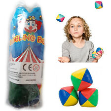 3* Professional Juggling Balls Beginner Kids Learn Juggle Activity Toys Coloured