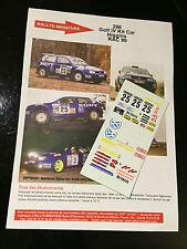 DECALS 1/43 VW VOLKSWAGEN GOLF HIGGINS RALLYE RAC GRANDE BRETAGNE 1999 RALLY WRC