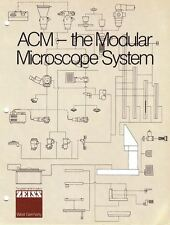 Zeiss ACM Multi-purpose Modular Microscope Brochure and Price List on CD L0195