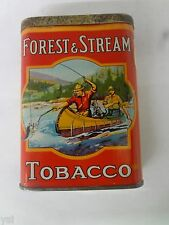 VINTAGE FOREST & STREAM TOBACCO TIN CANOE ADVERTISING COLLECTIBLE  282-X