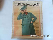 LE PETIT ECHO DE LA MODE N°11 12/03/1939 TAILLEURS MANTEAUX PRINTEMPS      K39