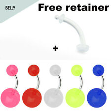 Belly Button Ring 6pcs Set Glow in the Dark Best Price Belly Piercing Set