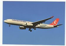 Turkish Airlines Airbus A330-343X Aviation Postcard, A756