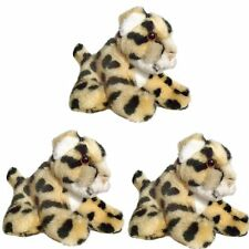 Pack of 3 Cheetah 13cm Soft Toys - Safari Soft Toy Animals