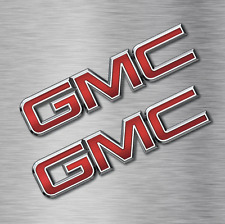 2 GMC logo STICKERS VINYL DECALS VEHICLE CAR WALL LAPTOP General Motors NEW