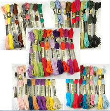 50pcs Multicolor Cotton Cross Stitch Pearl Embroidery Skein Floss Sewing Thread