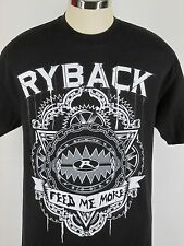 RYBACK WWE T Shirt AUTHENTIC WWE Wear FEED ME MORE print  Black Size L