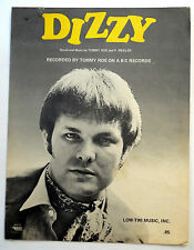 TOMMY ROE Sheet Music DIZZY Charles Hansen Publ.  60's POP VOCAL w