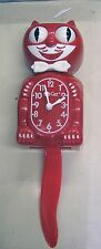 KIT CAT CLOCK  IN SCARLET RED COLOR MADE IN THE USA (FREE BATTERIES)