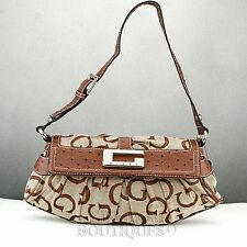 NUOVA elegante 100% ORIGINALE BORSETTA GUESS bordini Hobo Totes BROWN