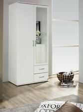 SPECIAL OFFER RAUCH 2 DOOR WARDROBE WITH 2 DRAWERS IN WHITE 1 MIRROR
