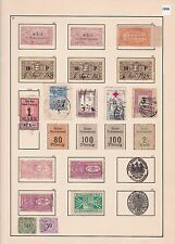 OLD WORLD MIXED  REVENUE STAMPS ON  1 ALBUM PAGE      R 2675